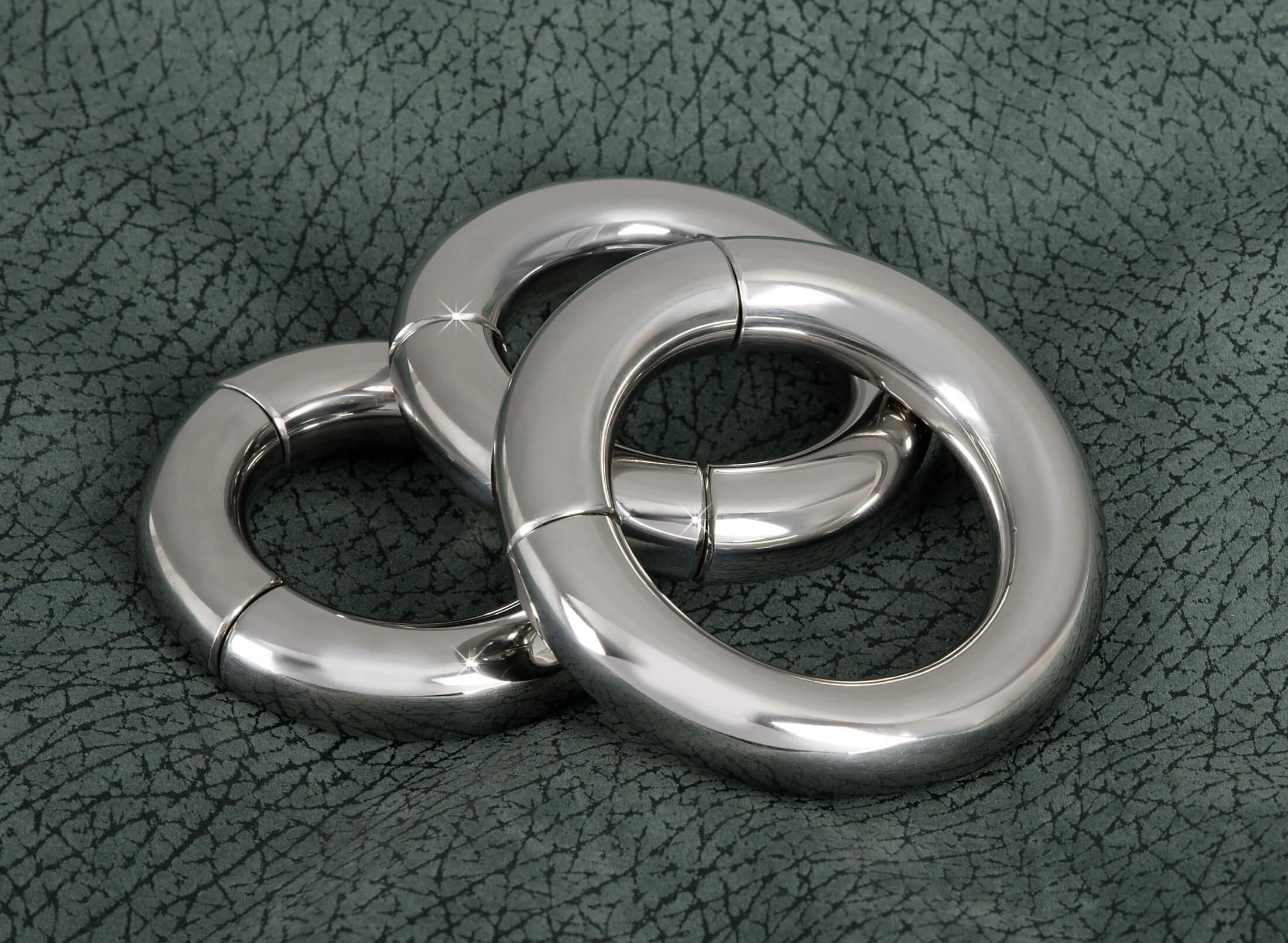 Sextreme - mágneses acél péniszgyűrű (3,9 cm)
