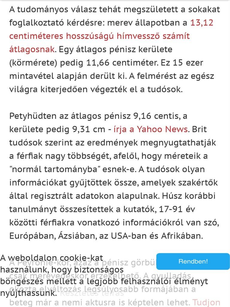 a pénisz átlagos hossza)