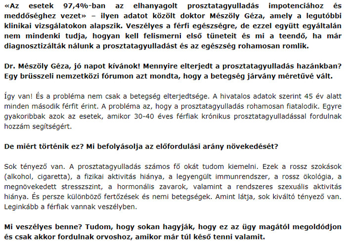 Jó a merevedésem prosztatagyulladással)