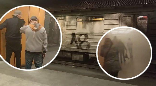pufók srácok a metróban)