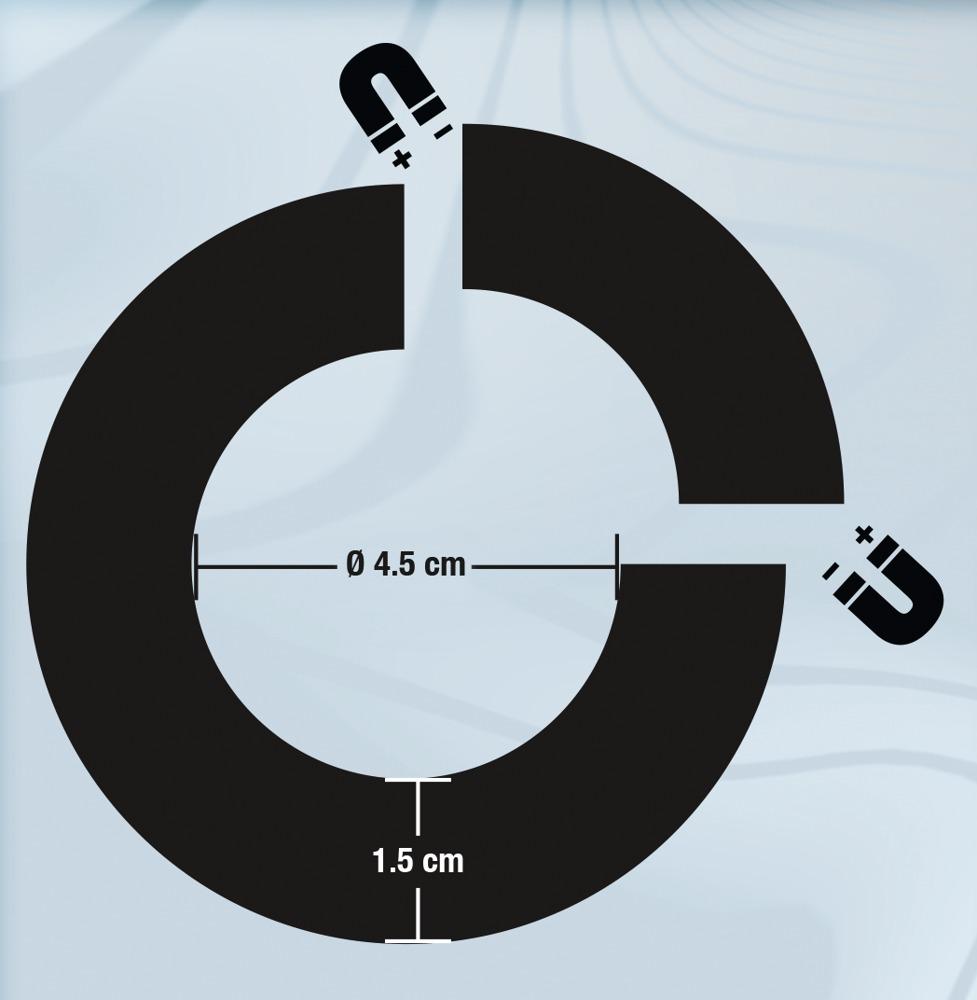Sextreme - mágneses acél péniszgyűrű (4,5 cm)