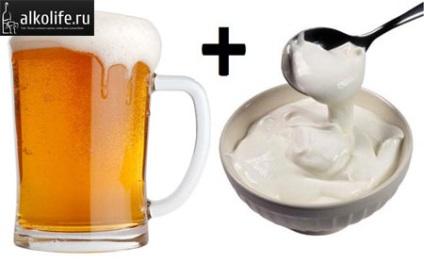 sör tejföllel a merevedéshez