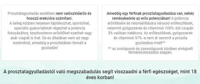 a prosztatagyulladás eltűnt a reggeli erekcióból)