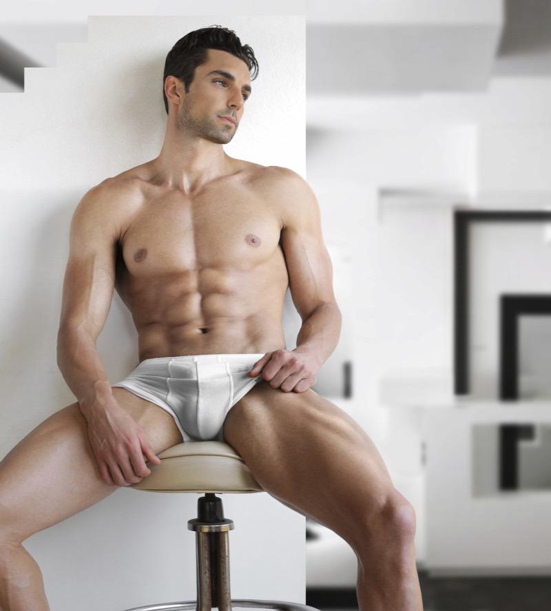 szexi férfiak péniszekkel akkora, mint a fickó farka erekcióban